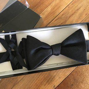 Robert Talbott Black Formal Bow Tie 100% Silk